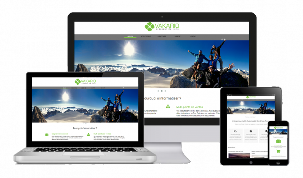 Vakario YoWeb - sites web e-commerce et vente en ligne responsive